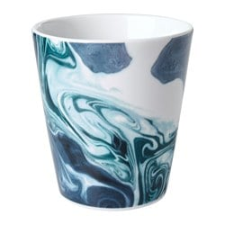 STUNSIG mug, marbling Height: 10 cm Volume: 35 cl