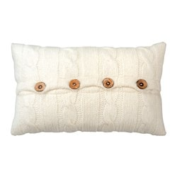 KUNGSKALLA cushion, knitted, white