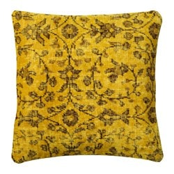 BOKARV cushion cover, yellow