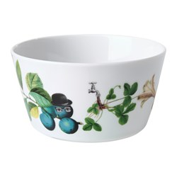 STUNSIG bowl, branch Height: 7 cm Diameter: 14 cm