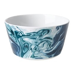 STUNSIG bowl, marbling Height: 7 cm Diameter: 14 cm