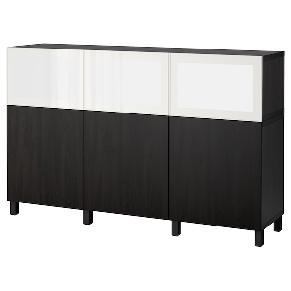 best surte aufbewahrung mit led t ren schwarzbraun lappviken schwarzbraun ikea. Black Bedroom Furniture Sets. Home Design Ideas