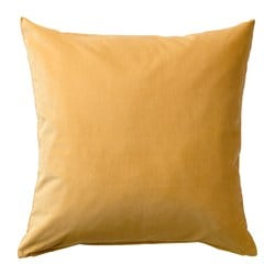 SANELA, Cushion cover, golden brown