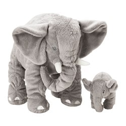 LEDDJUR soft toy, set of 2, elephant Length: 32 cm