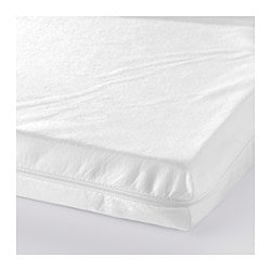 VYSSA SLAPPNA mattress for cot, white Length: 120 cm Width: 60 cm Thickness: 5 cm
