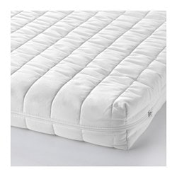 VYSSA SNOSA mattress for cot, white Length: 120 cm Width: 60 cm Thickness: 8 cm