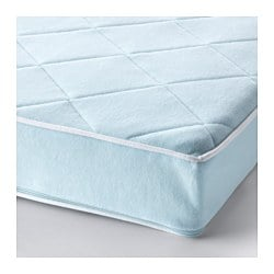VYSSA VACKERT mattress for cot, blue Length: 120 cm Width: 60 cm Thickness: 10 cm
