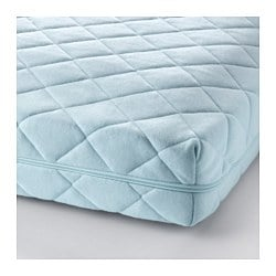 VYSSA VINKA mattress for cot, blue Length: 120 cm Width: 60 cm Thickness: 10 cm