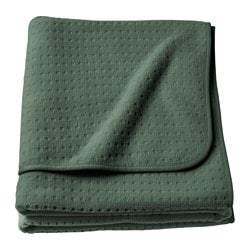 YPPERLIG throw, dark green Length: 170 cm Width: 130 cm Total weight: 550 g