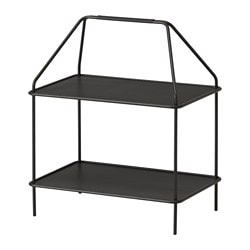 YPPERLIG magazine stand, dark grey