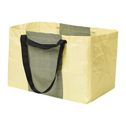 YPPERLIG carrier bag, large, yellow