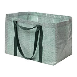 YPPERLIG, Shopping bag, large, green, white
