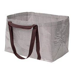 YPPERLIG, Shopping bag, large, dark red, white