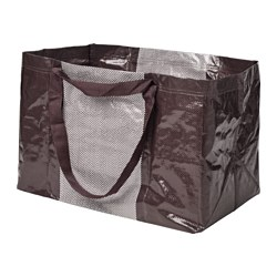 YPPERLIG, Shopping bag, large, dark red