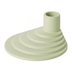 YPPERLIG candle holder, light green Height: 5.1 cm Diameter: 11 cm