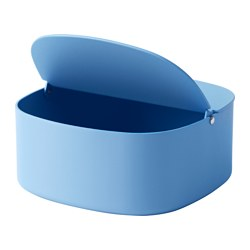YPPERLIG box with lid, blue