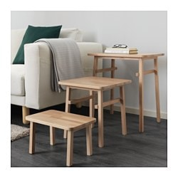 YPPERLIG nest of tables, set of 3, beech