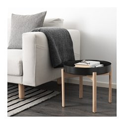 YPPERLIG coffee table, dark grey, birch