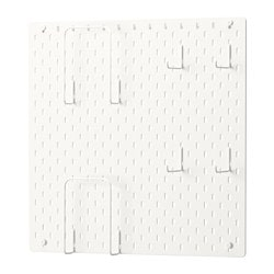SKÅDIS tablero perforado comb, blanco