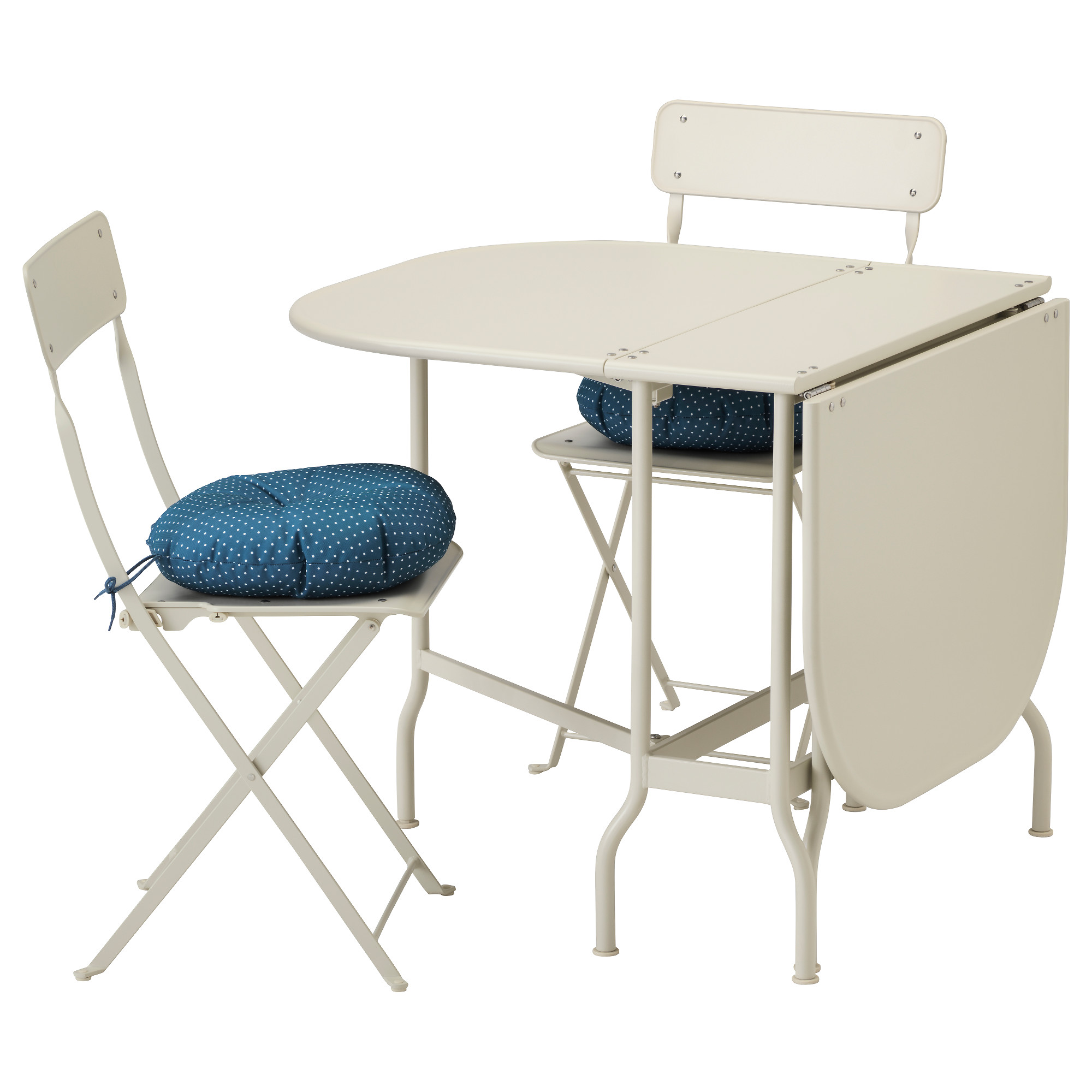 SALTHOLMEN Table 2 folding chairs outdoor Saltholmen beige
