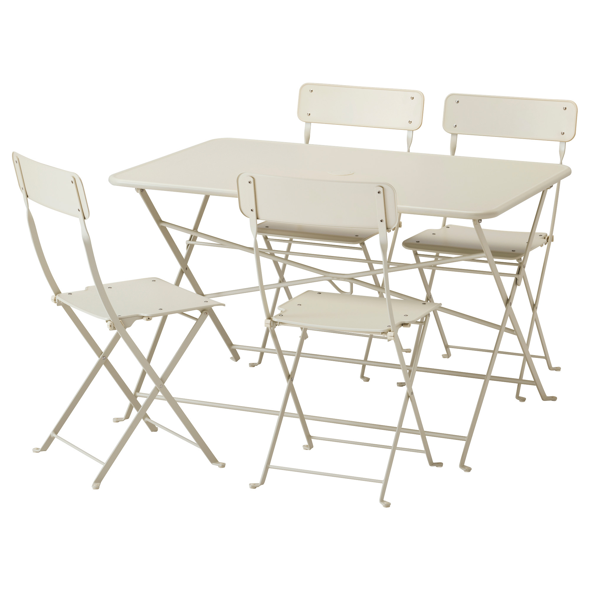 Saltholmen table 4 folding chairs outdoor saltholmen beige ikea
