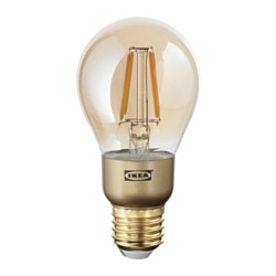 LUNNOM LED bulb E27 400 lumen, dimmable, globe brown clear glass Colour Temperature: 2200 K Diameter: 60 mm