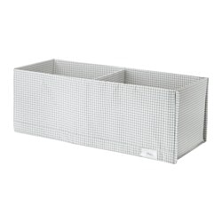 STUK box with compartments, white/grey