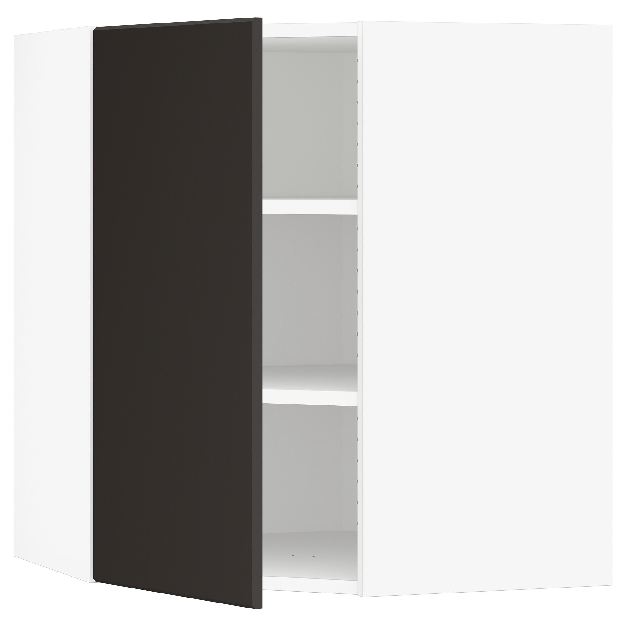 Color birch effect black brown high gloss gray turquoise white white - Sektion Corner Wall Cabinet With Shelves Wood Effect Brown Laxarby Black Brown 26x15x30 Ikea