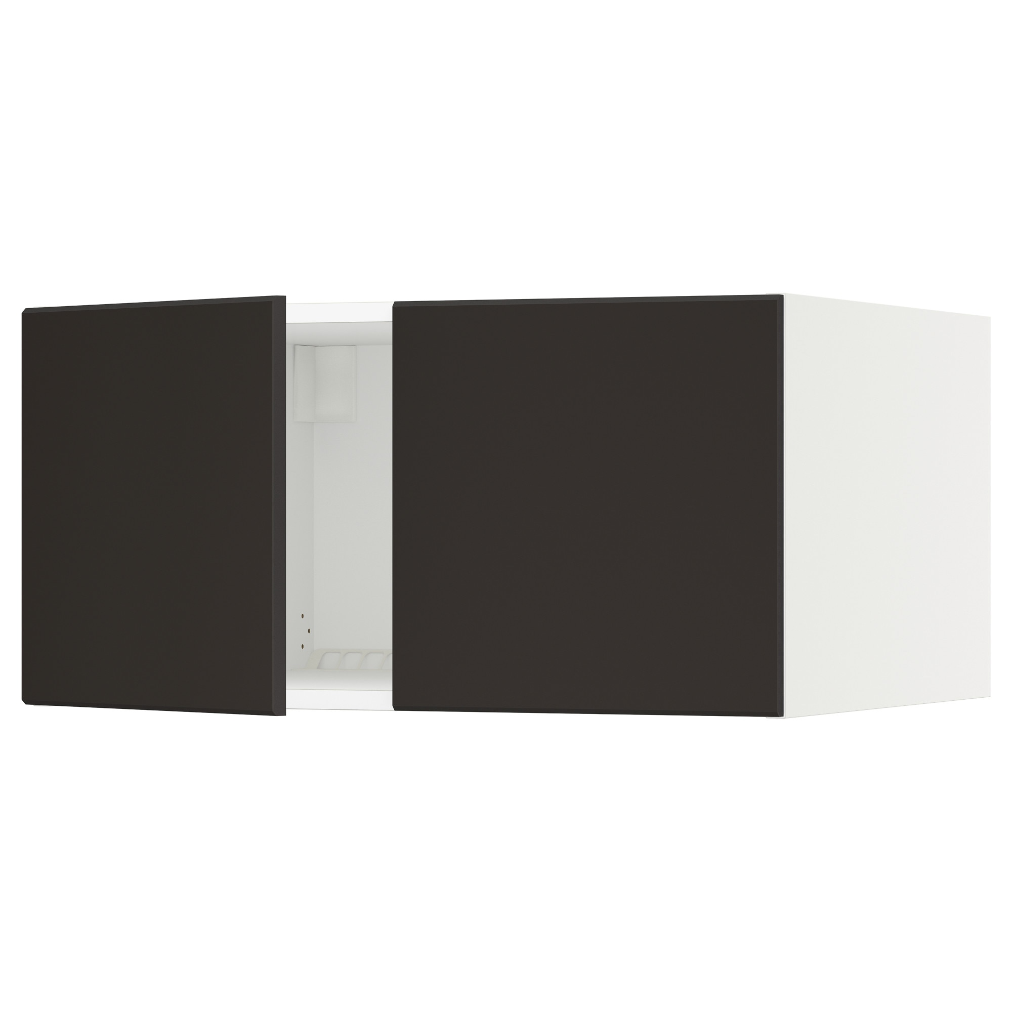 Color birch effect black brown high gloss gray turquoise white white - Sektion Top Cabinet For Fridge W 2 Doors Wood Effect Brown Laxarby Black Brown 36x24x15 Ikea