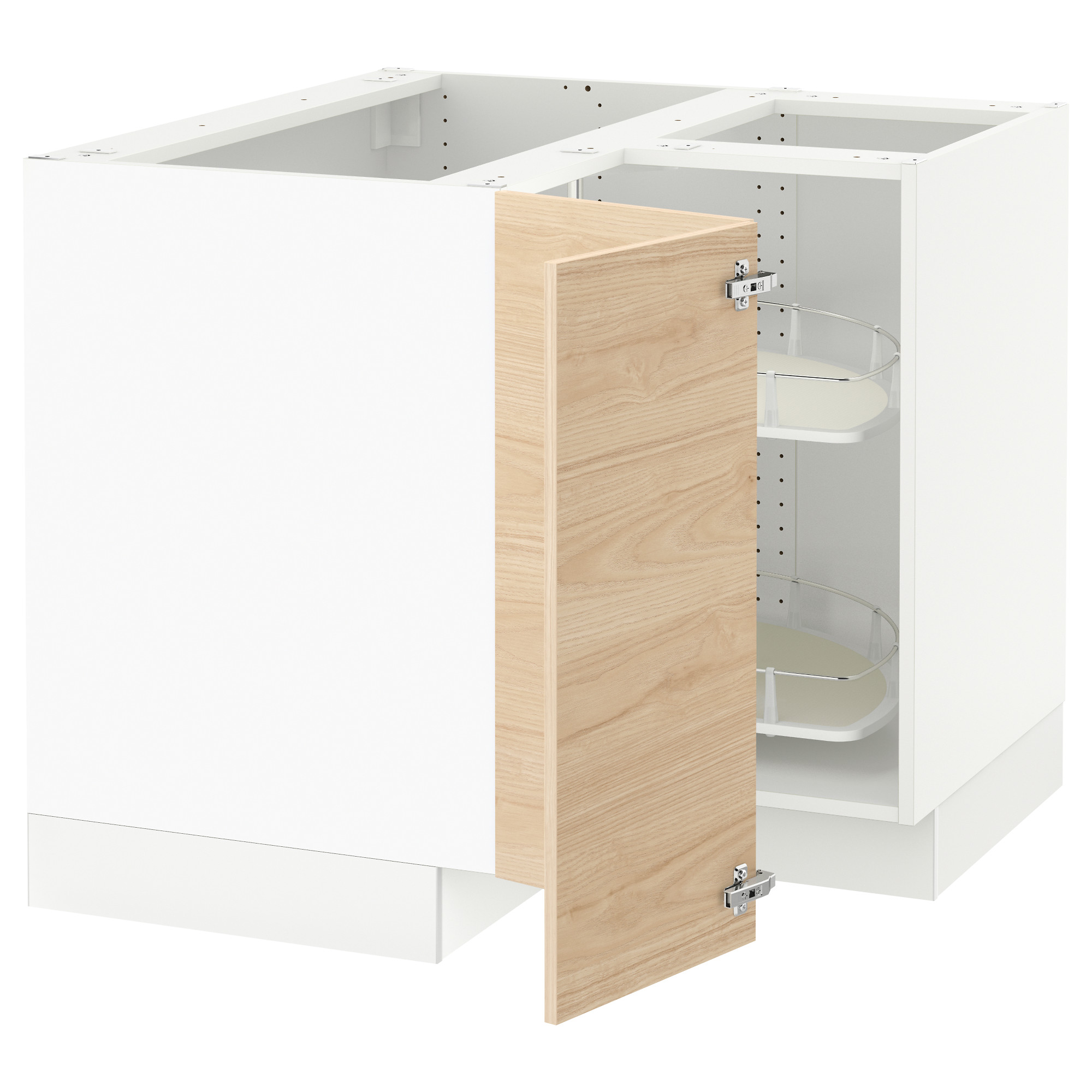 SEKTION Corner base cabinet with carousel white Ringhult high