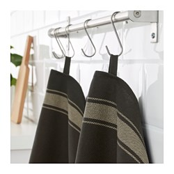 VARDAGEN dish towel, black
