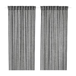 LEJONGAP curtains, 1 pair, dark gray