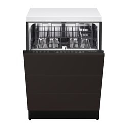 "RENLIG built-in dishwasher with 3 fronts, Kungsbacka anthracite Width: 24 "" System, depth: 24 "" Depth: 24 3/8 "" Width: 61.0 cm System, depth: 61 cm Depth: 61.8 cm"