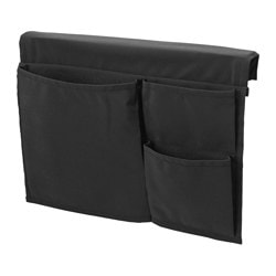 "STICKAT bed pocket, black Width: 15 ¼ "" Height: 11 ¾ "" Width: 39 cm Height: 30 cm"