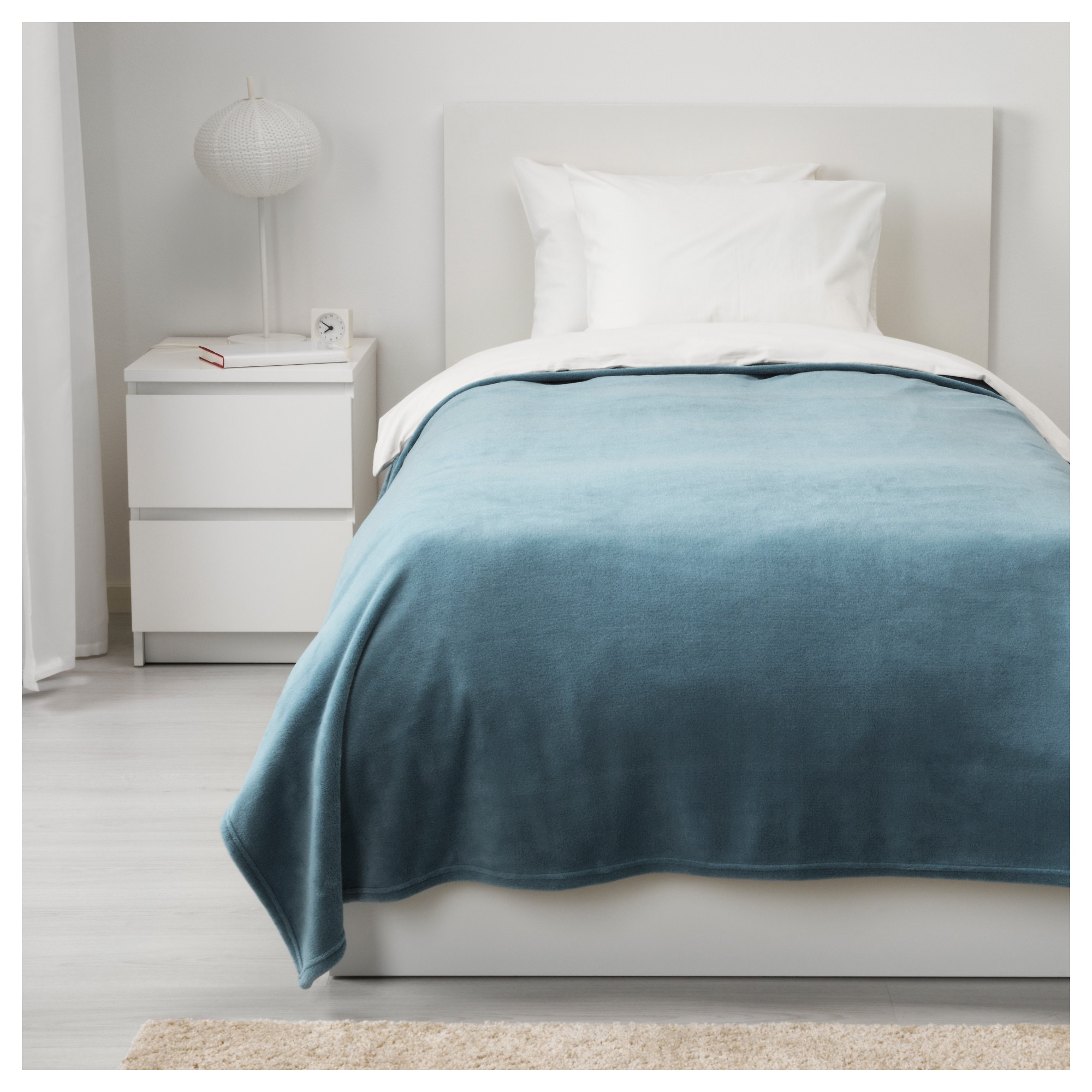 Bedspread TRATTVIVA light blue