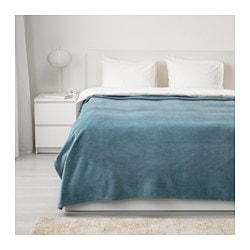 TRATTVIVA bedspread, light blue