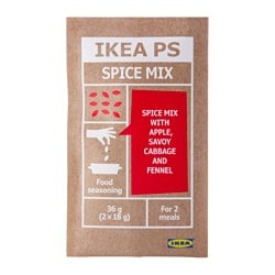 IKEA PS spice mix with apple and fennel Net weight: 1 oz Net weight: 36 g