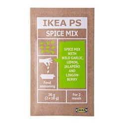 IKEA PS spice mix with wild garlic/lemon Net weight: 1 oz Net weight: 36 g