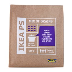 IKEA PS whole grain mix with mushroom Net weight: 250 g