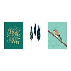 "TRILLING poster, set of 3, Figures and shapes Width: 7 ¾ "" Height: 9 ¾ "" Width: 20 cm Height: 25 cm"