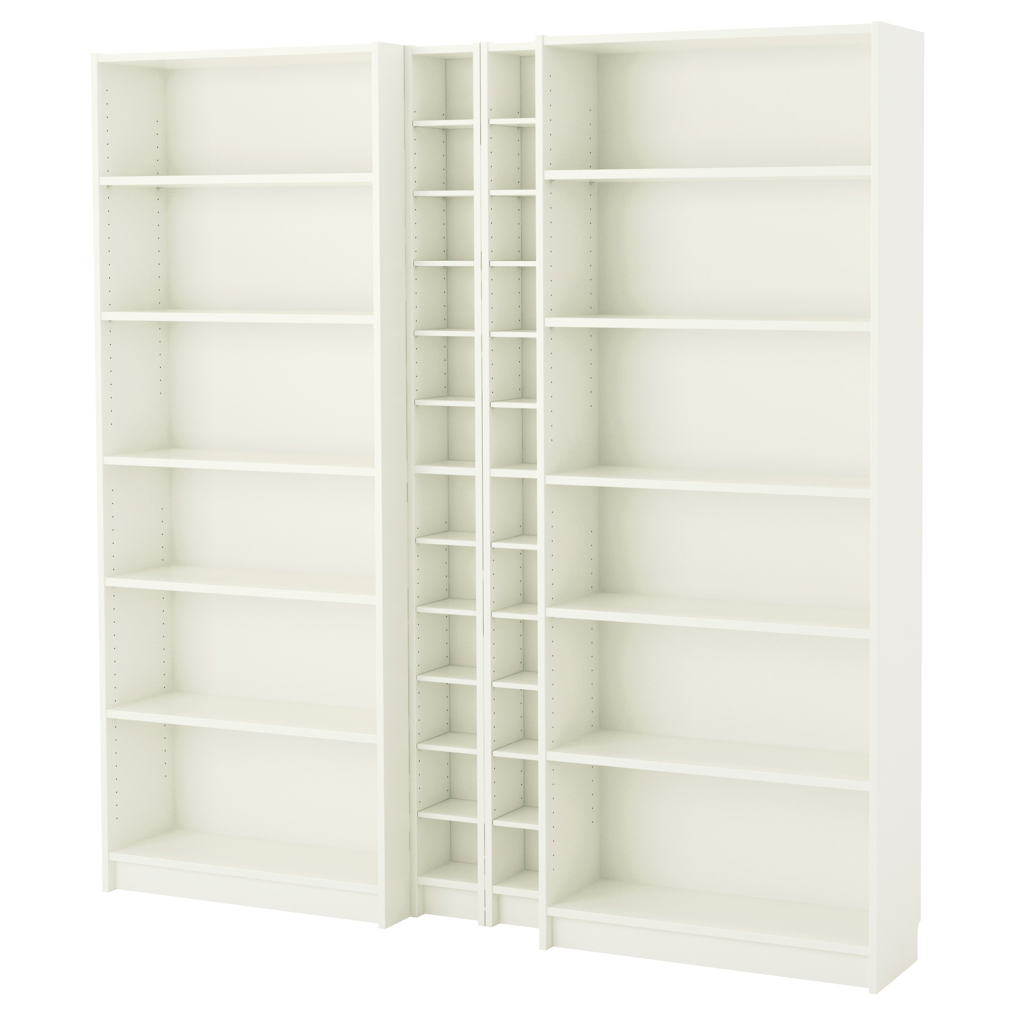 BILLY / GNEDBY bookcase, white Width: 78 3/4