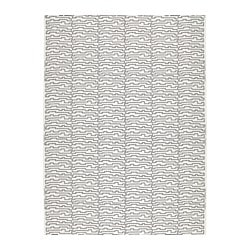 "AVSIKTLIG fabric, dotted, white/black Weight: 0.75 oz/sq ft Width: 59 "" Weight: 230 g/m² Width: 150 cm"