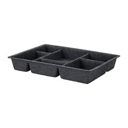 RAGGISAR tray, dark grey