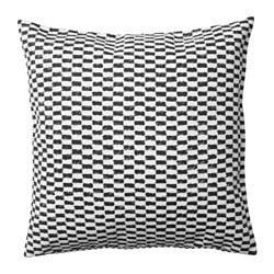 YPPERLIG cushion cover, black/white