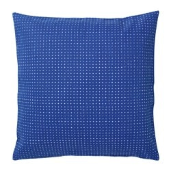 YPPERLIG cushion cover, blue, dotted
