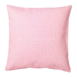 YPPERLIG cushion cover, pink, dotted Length: 50 cm Width: 50 cm