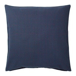 YPPERLIG, Cushion cover, dark blue, dotted