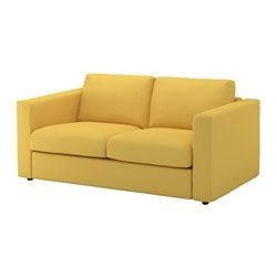 VIMLE 2-seat sofa, Orrsta golden-yellow Height including back cushions: 80 cm Width: 171 cm Depth: 98 cm
