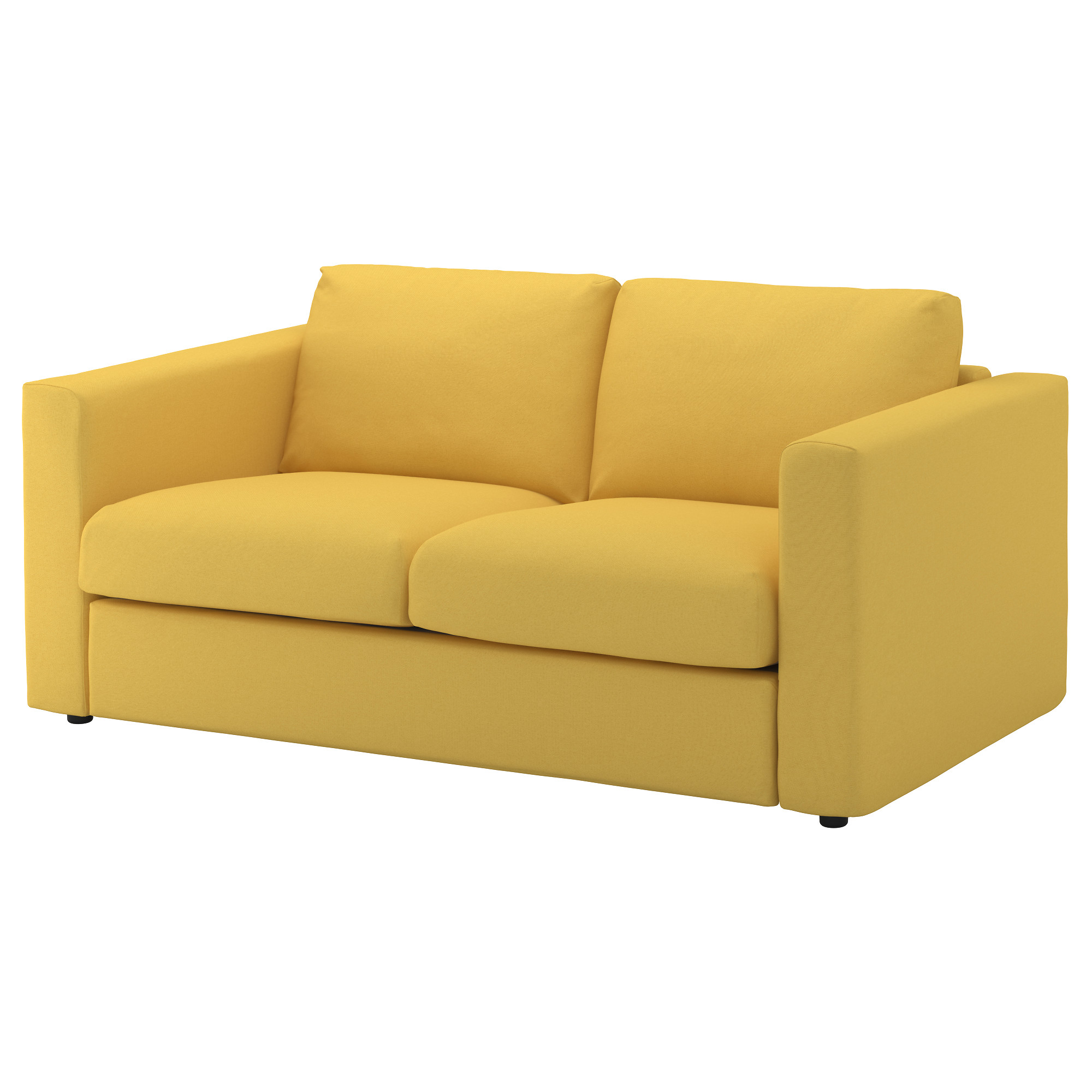 VIMLE loveseat, Orrsta golden-yellow Height including back cushions: 31 1/2