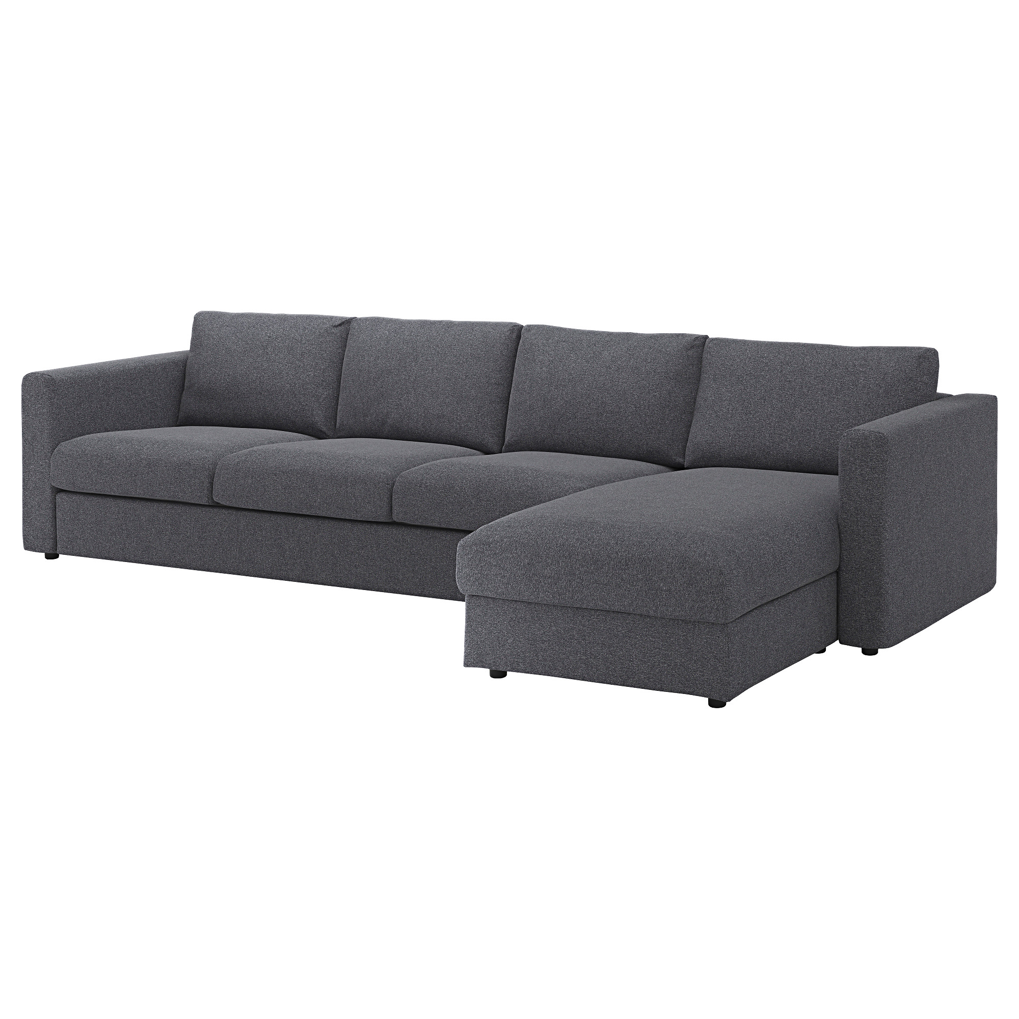 vimle sectional 4seat with chaise gunnared medium gray